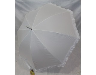 белый зонт с рюшей ОПТ