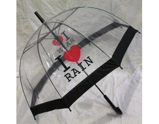 зонт трость прозрачный грибком