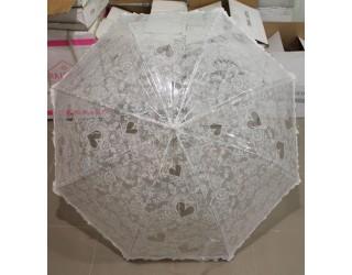 зонт трость белая ОПТ
